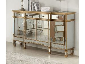 Imperial Gold Mirrored Sideboard