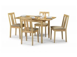 Julian Bowen Rufford Extending Dining Set + 4 Chairs