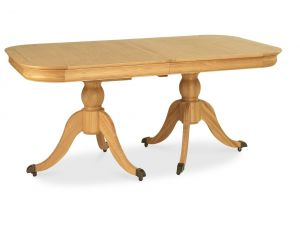 Bentley Designs Chantilly Oak 6-8 Extension Dining Table And 8 X Back Chairs