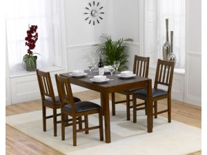 Marbella 120cm Dining Table + 4 Dining Chairs Set