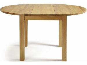Serene Sutton Oak Round Extending Dining Table