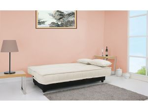 Yoko Fabric Sofa Bed with Storage and Detachable Cover in a Delicate Beige