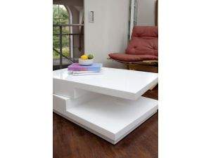 Greenapple Quirk White Gloss Coffee Table LY0611W
