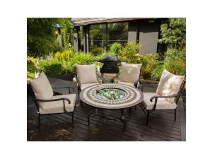Leisuregrow Casablanca Ceramic 120cm Lounge Firepit Set