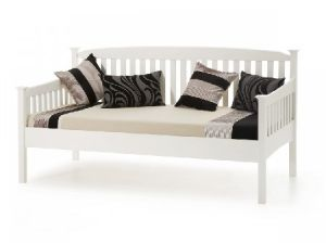 Serene Eleanor 3ft Single Opal White Wooden Day Bed