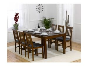 Marbella 150cm Dining Table + 6 Dining Chairs Set