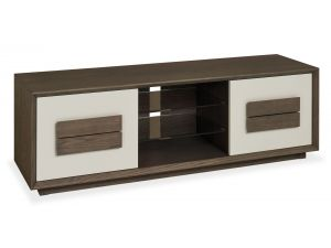 Bentley Designs City Soft Grey and Weathered Oak Wide Entertainment Unit