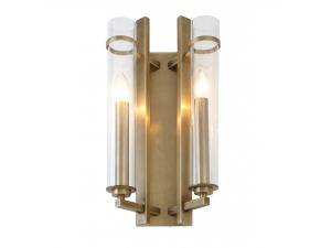 RV Astley Louis Antique Brass 2 Light Wall Light