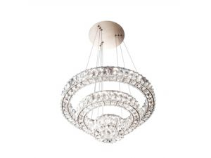 RV Astley Giness Crystal Triple Ring Ceiling Light