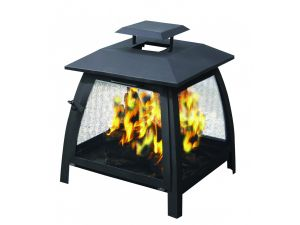 Bosmere Storm Black Large Square Fire Pit Cover