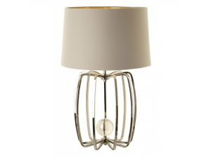 RV Astley Cage Large Nickel Table Lamp
