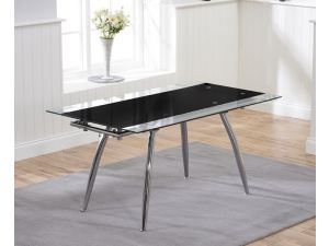 Roehampton Black Glass Extending Dining Table
