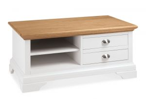 Bentley Designs Hampstead Ivory Oak Two Tone Coffee Table