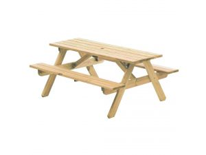 Alexander Rose Pine Woburn Picnic Table Garden Bench 5FT (FSC)