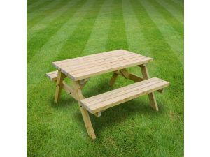 Rutland Oakham 4ft Light Green Picnic Bench