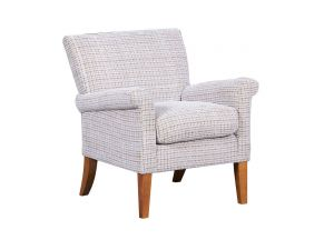 Balmoral Barley Weave Fabric Accent Chair
