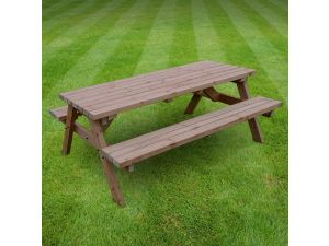 Rutland Oakham 7ft Rustic Brown Picnic Bench