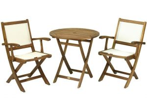 Royalcraft York 2 Seater Bistro Set With Henley Lowback Folding Armchairs
