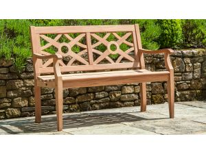 Alexander Rose Mahogany Heritage 4ft Wooden Bench