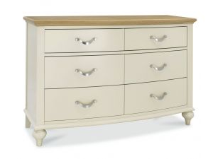 Bentley Designs Montreux Pale Oak And Antique White 6 Drawer Wide Chest