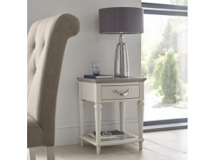 Bentley Designs Montreux Grey Washed Oak And Soft Grey Lamp Table