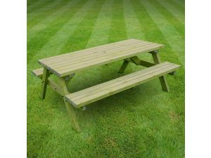 Rutland Oakham 7ft Light Green Picnic Bench