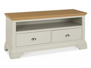 Bentley Designs Hampstead Soft Grey and Oak Entertainment Unit