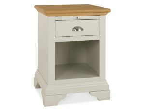 Bentley Designs Hampstead Soft Grey and Oak Lamp Table