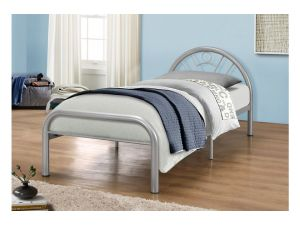 Birlea Solo 3ft Single Silver Metal Bed