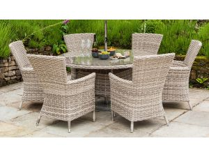 Alexander Rose Kool High Back Brown Rattan Armchair