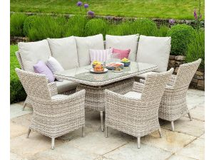 Alexander Rose Kool Brown Rattan Casual Corner Dining Set
