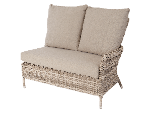 Alexander Rose Kool Brown Rattan Casual Dining Right End Double Module