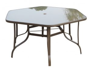 Royalcraft Amalfi Hexagonal Glass Dining Table