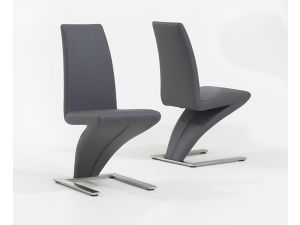 Hereford Grey PU Leather Chairs (Pairs)