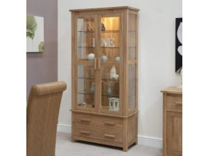 Opus Oak Glass Display Cabinet
