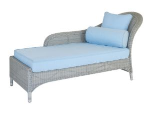 Alexander Rose Classic White Chaise Lounge With Pillow