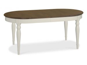 Bentley Designs Hampstead Walnut Dining Table With 6 X Back Fabric Chairs