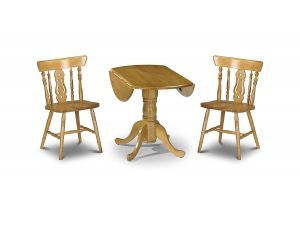 Julian Bowen Dundee Drop Leaf Dining Table and 2 Yorkshire Fiddleback Chairs