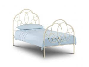 Julian Bowen Arabella 3ft Single White Metal Bed