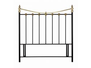 Bentley Designs Ancona 4ft6 Double Black Metal Headboard