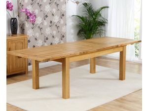 Rustique Classical Solid Oak Dining Table Extends to 240 cm