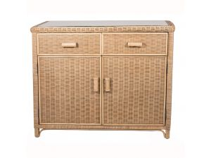 Habasco Maui Cupboard with 2 Drawers in Natural Wash