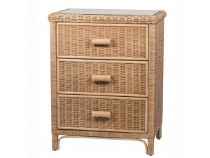 Habasco Maui 3 Drawer Unit in Natural Wash