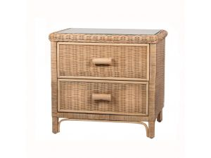 Habasco Maui 2 Drawer Unit in Natural Wash