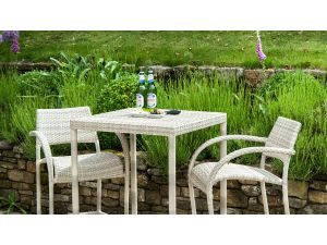 Alexander Rose Ocean Pearl Fiji Rattan 2 Seater Bar Set