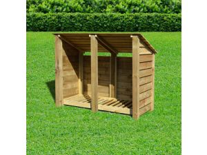 Rutland Cottesmore 4ft Light Green Solid With Reverse Roof Wooden Log Store