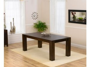 Madrid Chunky Dark Wood Solid Oak Dining Table in a Fingerjoint Style