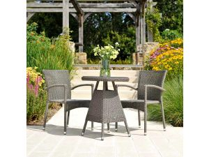 Alexander Rose Monte Carlo 2 Seater Stacking Armchair Bistro Set
