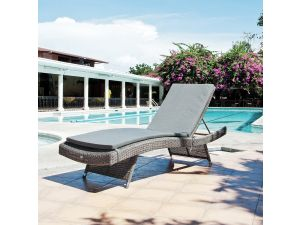 Alexander Rose Monte Carlo Adjustable Sunbed With Cushion