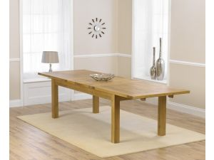 Rustique Classical Solid Oak Dining Table Extends to 310 cm